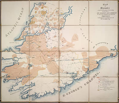 Cartography Photograph - Map Of Munster by British Library