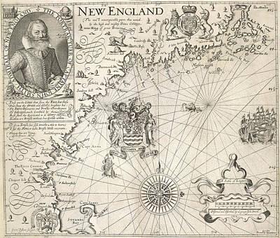 Map Of New England Art Print