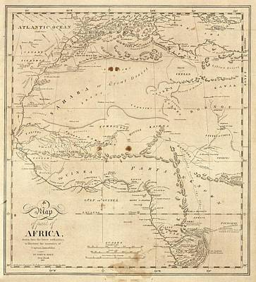 Black Commerce Photograph - Map Of North-western Africa by Library Of Congress, Geography And Map Division