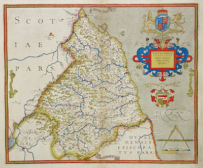Map Of Northumbria Art Print by British Library