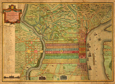 Old Map Photograph - Map Of Philadelphia 1802 by Andrew Fare