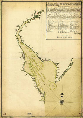 Map Of Philadelphia And The Delaware River 1780s Art Print by MotionAge Designs