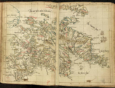 Laurence Photograph - Map Of Scotland by British Library