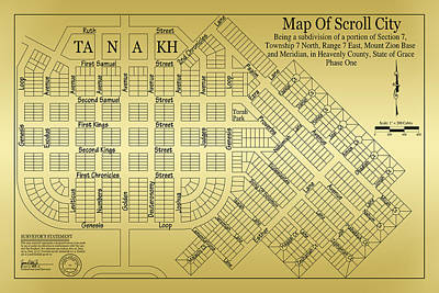 Drawing - Map Of Scroll City by James Eddy