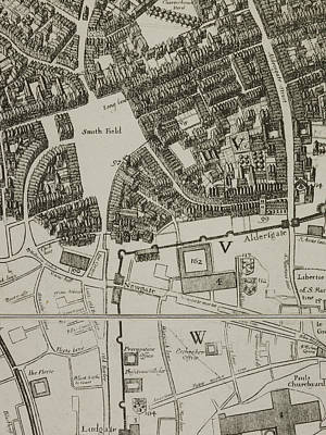 Map Of Smith Fields Art Print by British Library