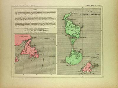 Terra Drawing - Map Of Terra Nova by English School