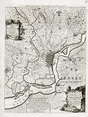 Pennsylvania Drawing - Map Of That Part Of Pensylvania - 1777 by Pablo Romero