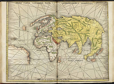 Ptolemy Photograph - Map Of The Ancient World by British Library