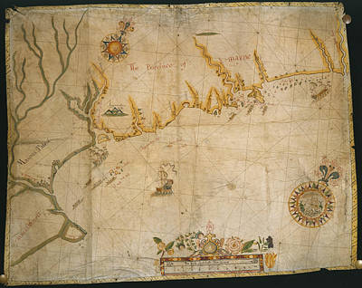 Map Of The Coast Of Maine Art Print by British Library