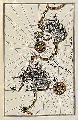 Piri Reis Map Of The Coastline From Piran To Izola Original by Dragica  Micki Fortuna