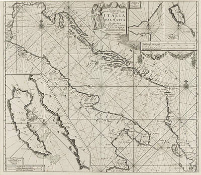 Map Of The Coasts Of The Adriatic, Print Maker Anonymous Art Print by Anonymous