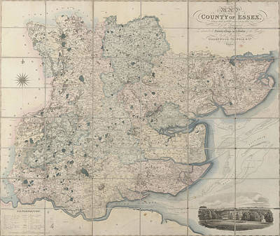 Map Of The County Of Essex Art Print