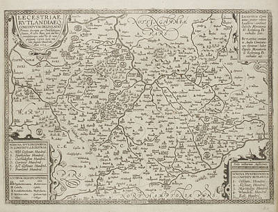 Map Of The County Of Leicestershire Art Print by British Library