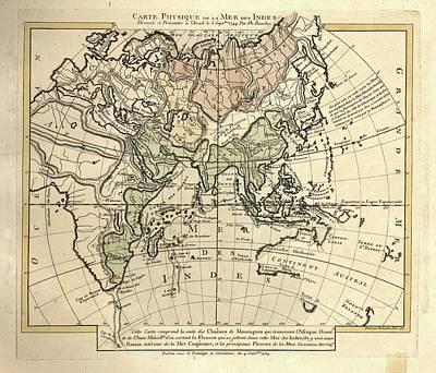 Map Of The Indian Ocean Art Print
