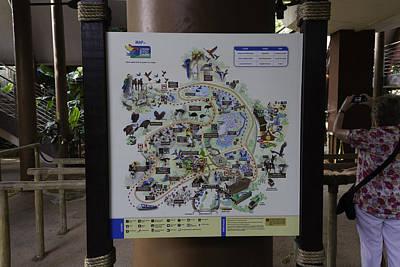 Map Of The Jurong Bird Park Along With A Tourist Art Print
