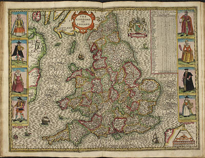 Cartography Photograph - Map Of The Kingdome Of England by British Library