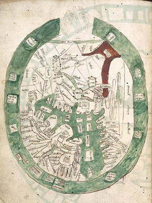 Cartography Photograph - Map Of The Mediterrannean Area by British Library