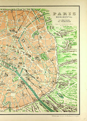 paris map drawing map of the monuments in paris by english school