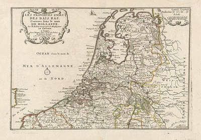 Map Of The Netherlands, 1701, Harmanus Van Loon Art Print
