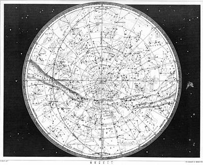 Schmidt Photograph - Map Of The Northern Heavens by Underwood Archives