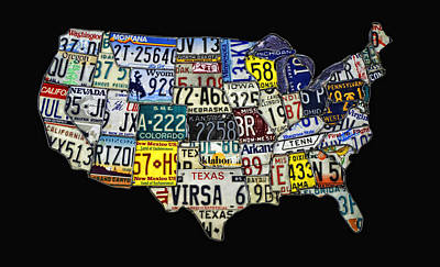 Map Of The United States Original by Elaine Walsh
