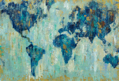 World Map Painting - Map Of The World by Silvia Vassileva