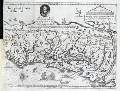 Map Of Virginia Art Print