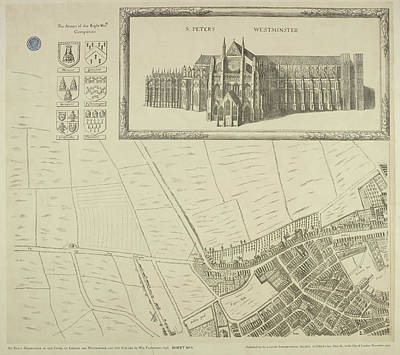 Westminster Abbey Wall Art - Photograph - Map Of Westminster In The City Of London by British Library