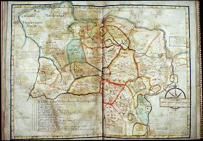 Cartography Photograph - Map Of Windsor Forest by British Library