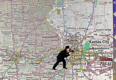 Map Overland Park Kansas Print by Liane Wright