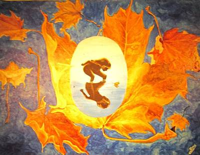 Painting - Maple Child by Cathy Long