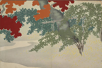 Kyoto Drawing - Maple, Kamisaka, Sekka, Artist, Date Issued 1909 by Artokoloro
