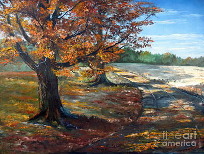 Art Print featuring the painting Maple Lane by Lee Piper