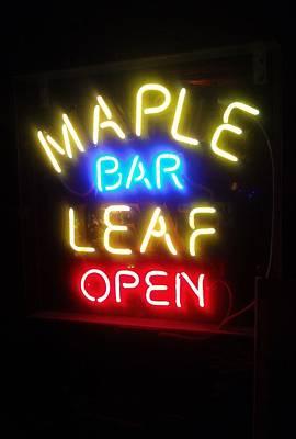 Maple Leaf Bar Art Print by Deborah Lacoste