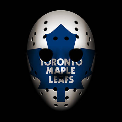 Toronto Maple Leafs Photograph - Maple Leafs Goalie Mask by Joe Hamilton