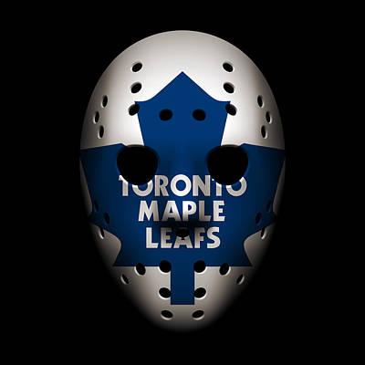 Maple Leafs Goalie Mask Art Print by Joe Hamilton