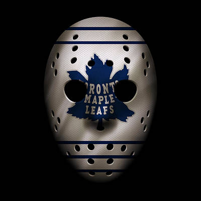 Toronto Maple Leafs Photograph - Maple Leafs Jersey Mask by Joe Hamilton