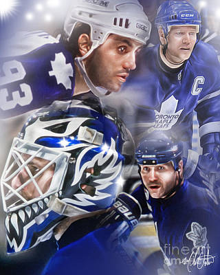 Toronto Maple Leafs Digital Art - Maple Leafs by Mike Oulton