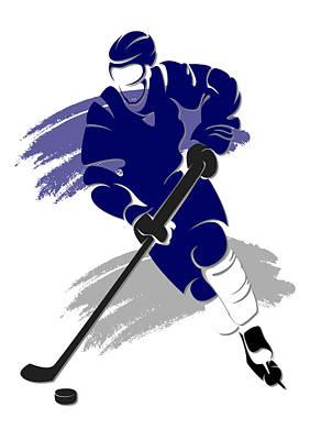 Maple Leafs Shadow Player2 Art Print by Joe Hamilton
