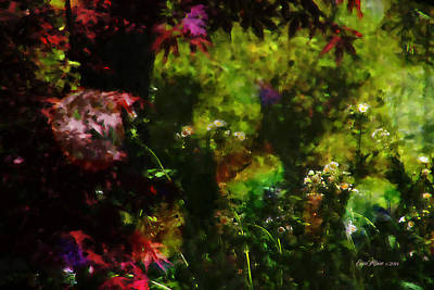 Photograph - Maple Leaves And Daisys by Ericamaxine Price