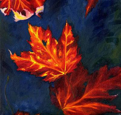 Painting - Maple Leaves In Autumn by MM Anderson