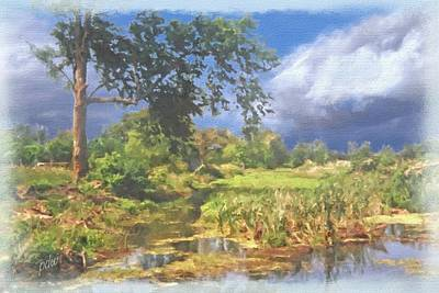 Garden Scene Mixed Media - Maple Slough by Philip White