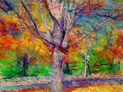 Painting - Maple Tree In Autumn - Horizontal by Lyn Voytershark