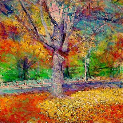 Painting - Maple Tree In Autumn - Square by Lyn Voytershark