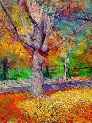 Digital Art - Maple Tree In Autumn - Vertical by Lyn Voytershark