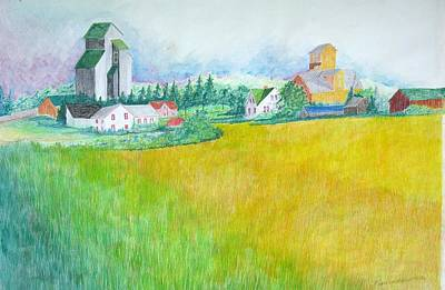 Feed Mill Painting - Maplewood Feed Mills by Kathleen Barlament