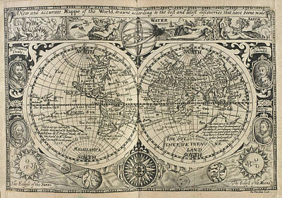 Ro Photograph - Mappe Of The World by British Library