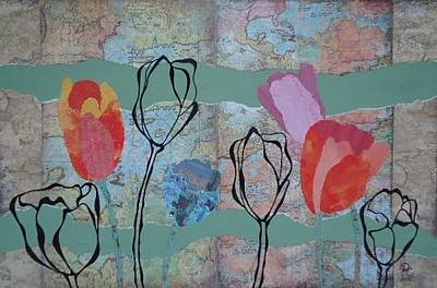 Drawing - Mapping Tulips by Glenn Calloway