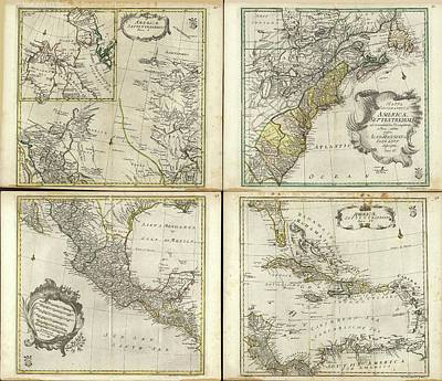 Maps Of North America Art Print by Library Of Congress, Geography And Map Division