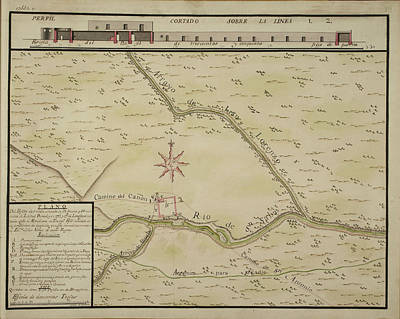 Maps Of Towns In The North Of Mexico Print by British Library